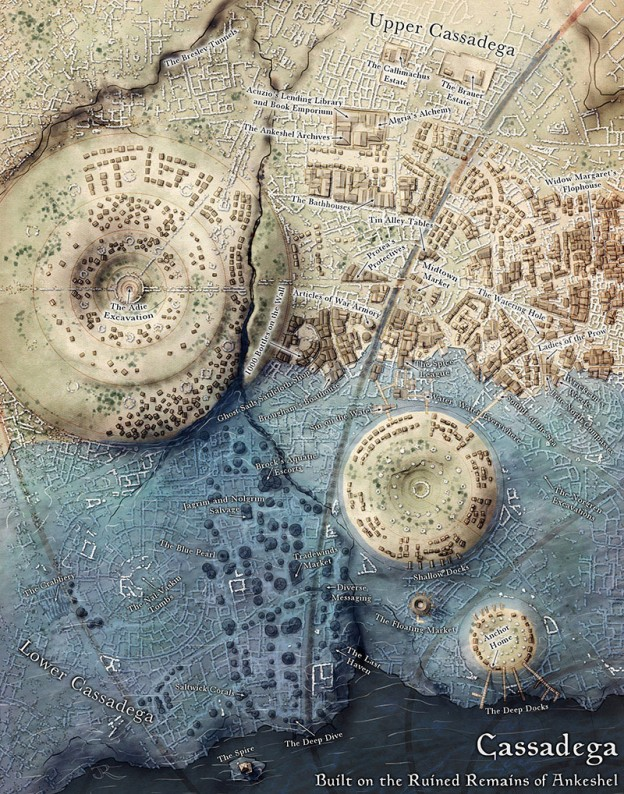 Map of Cassadega from Sunken Empires by Open Design