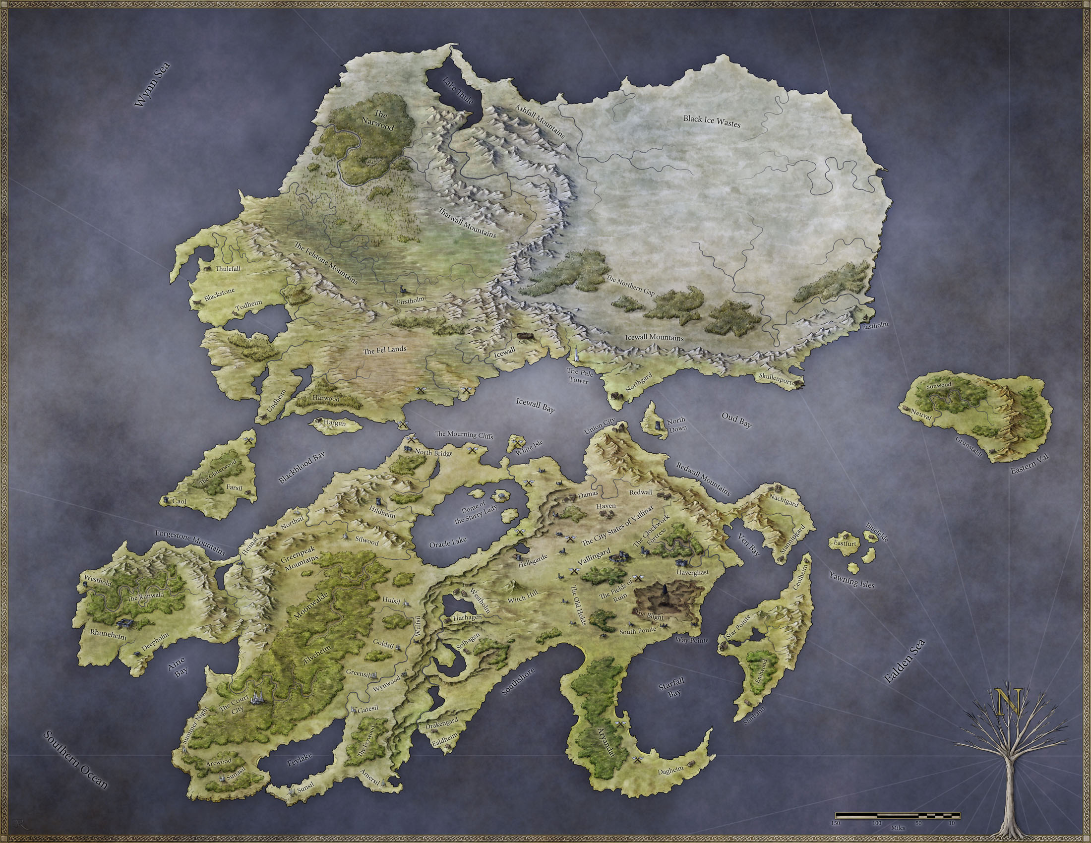 World Of Rhune Fantastic Maps
