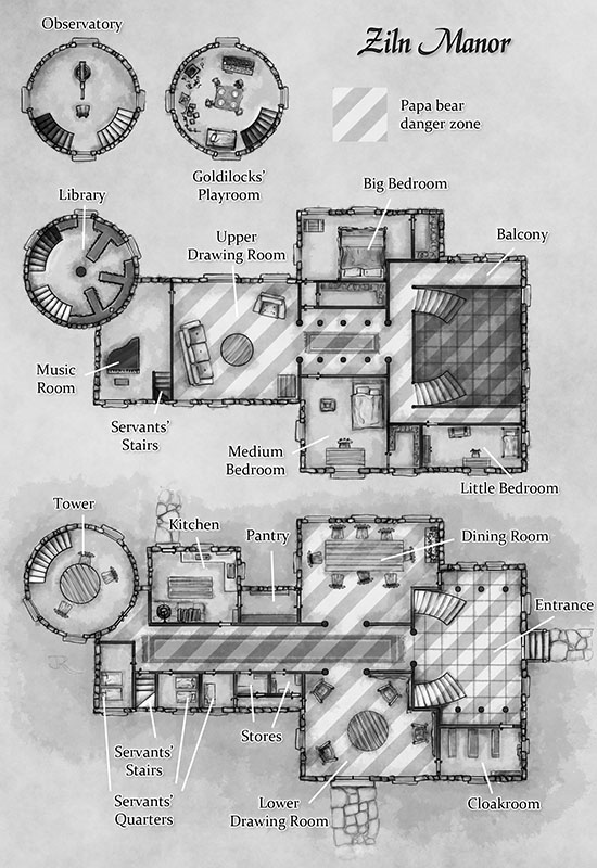 Manor House - Fantastic Maps on