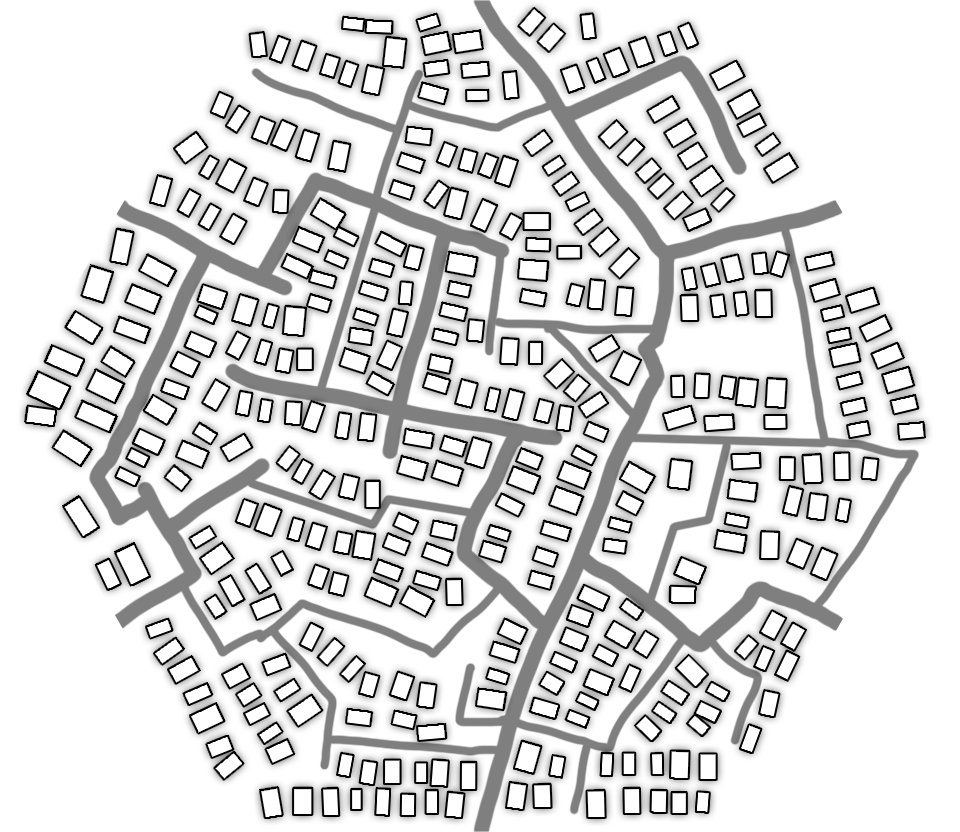 free city tile for fantasy city maps - sketch and ideas