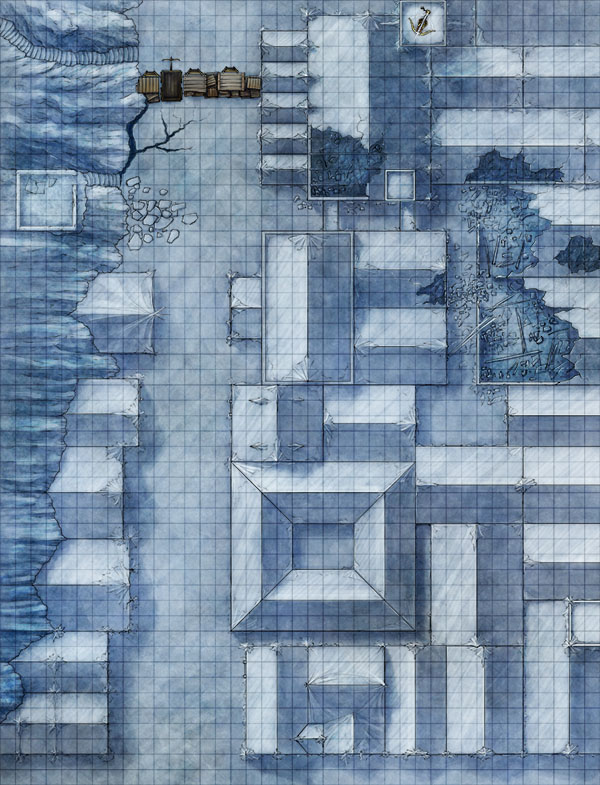 Fantasy map pack for rooftop city chase scene