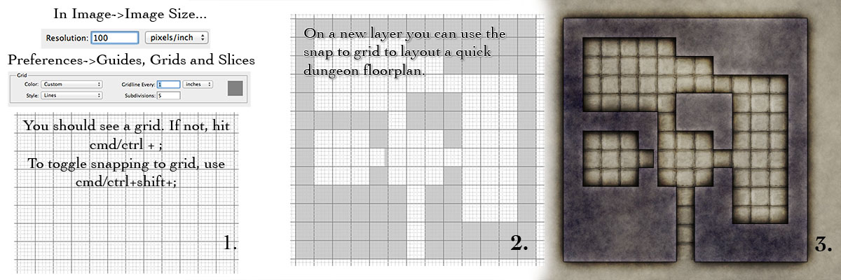 Weekly Tips 2 - How to design a gatehouse, using grids and building on