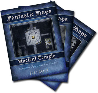 Bundle of fantasy temple dungeon maps for 4e d&d for Illusionary Press