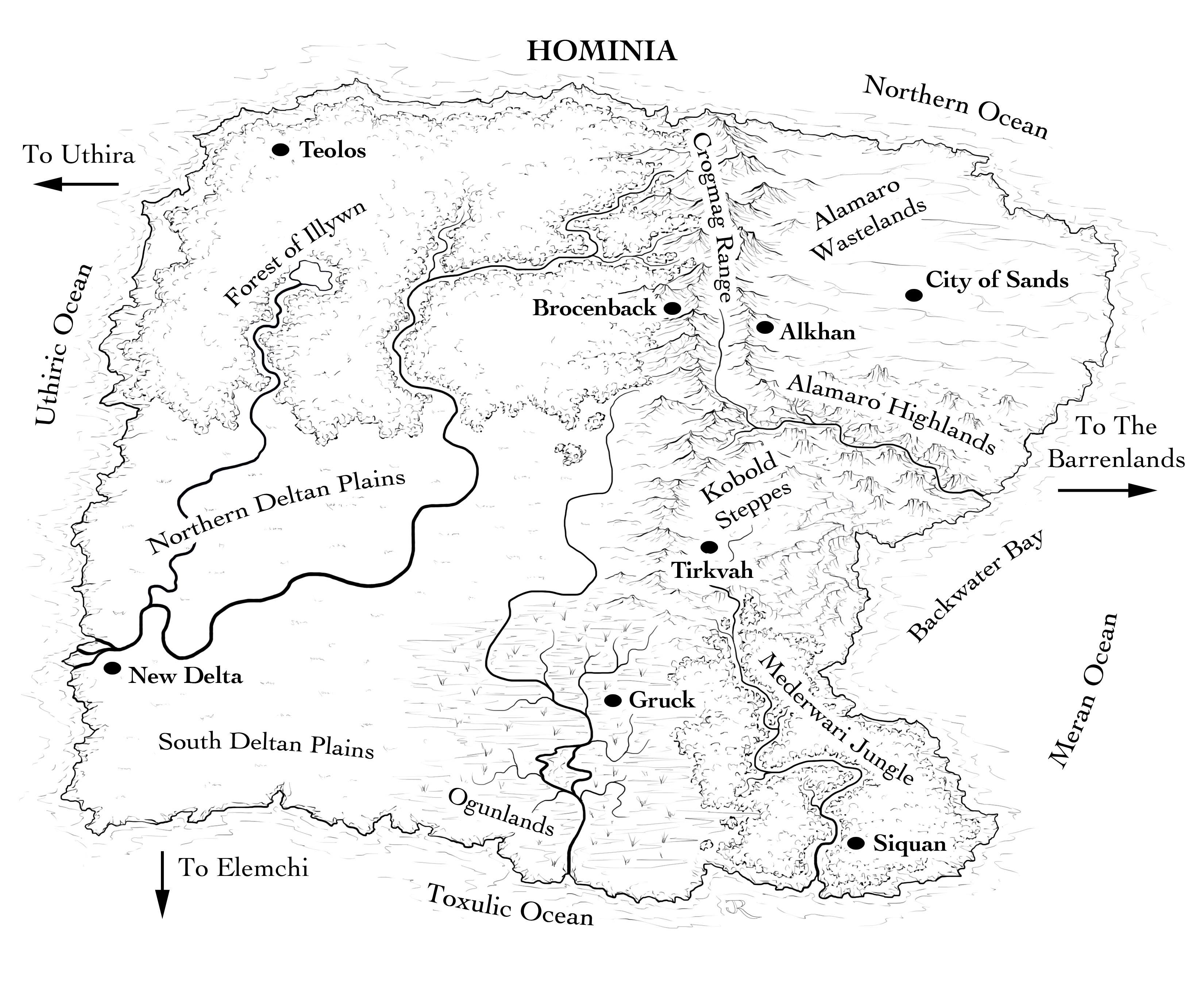 The world of Hominia for Noah Murphy