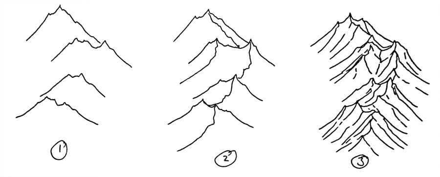 How To Draw Isometric Hand Drawn Mountains Fantastic Maps