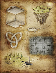 5 room fantasy dungeon map