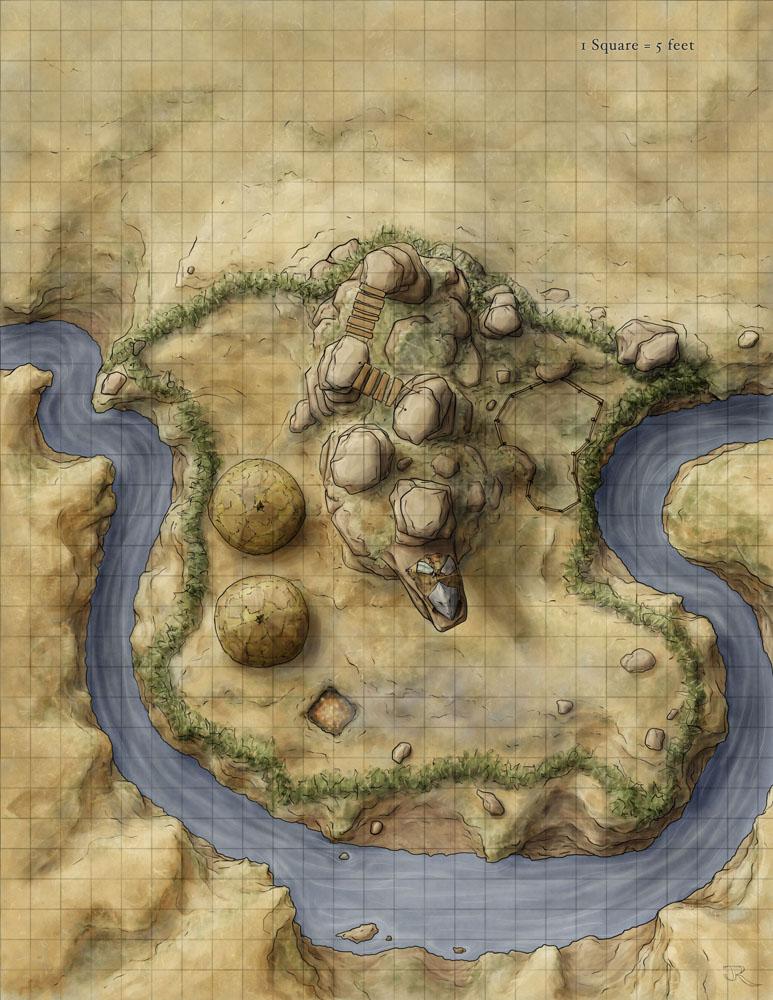 Fantasy Savannah Camp map