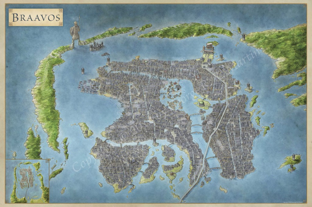 The Free City of Braavos - Fantastic Maps