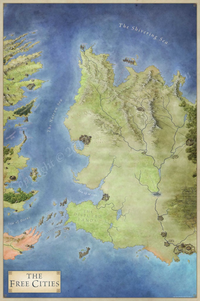 photo about Free Printable Map of Westeros called The Lands of Ice and Hearth - the maps of Recreation of Thrones