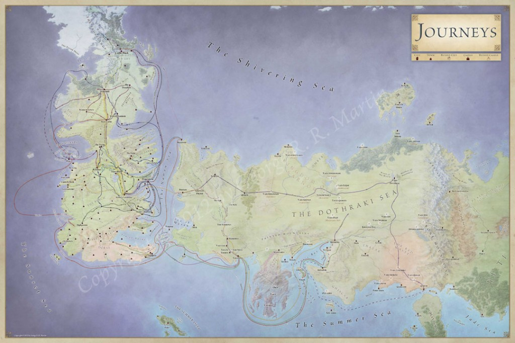 picture relating to Free Printable Map of Westeros identified as The Lands of Ice and Fireplace - the maps of Recreation of Thrones
