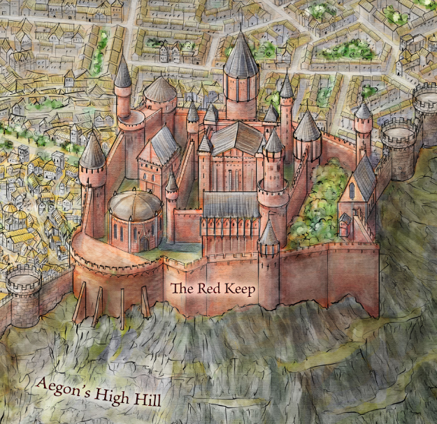 The Red Keep from the Official map of King's Landing