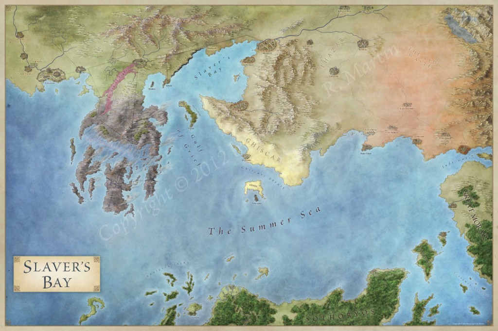 The Lands of Ice and Fire - the maps of Game of Thrones