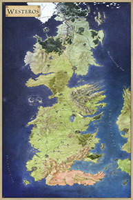 Westeros poster map for Official Maps of Game of Thrones