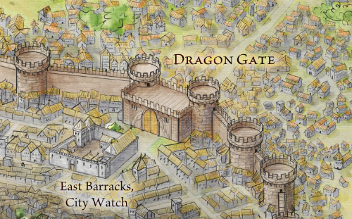 The Dragon Gate from the Official Map of King's Landing for Game of Thrones