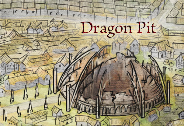 The Dragon Pit from the Official Map of King's Landing