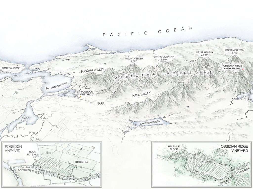 Tricycle Wine Partners final map of Obsidian Ridge and Poseidon Vineyards